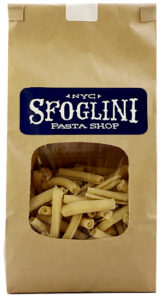 Sfoglini pasta in a bag.