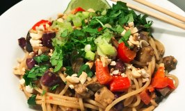 Get Dressed Sesame Sensation Roasted Eggplant Noodles