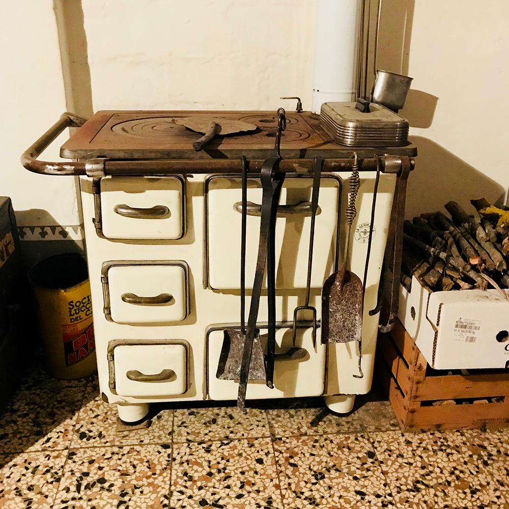 Marzia's grandmother's stove.