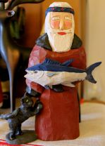 Zorba Claus and his cat, from Greece