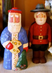 Wim Claus, from the Netherlands, and Gordie Claus, a Royal Canadian Mountie Santa