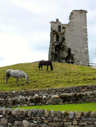 Ruined castle on Renvyle Peninsula