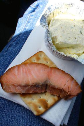 Smoked salmon picnic