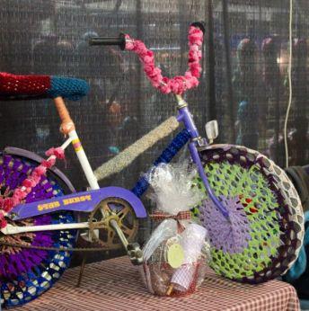 The obligatory yarn-bombed bike