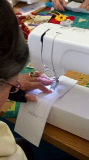 Sewing on the paper, not the fabric