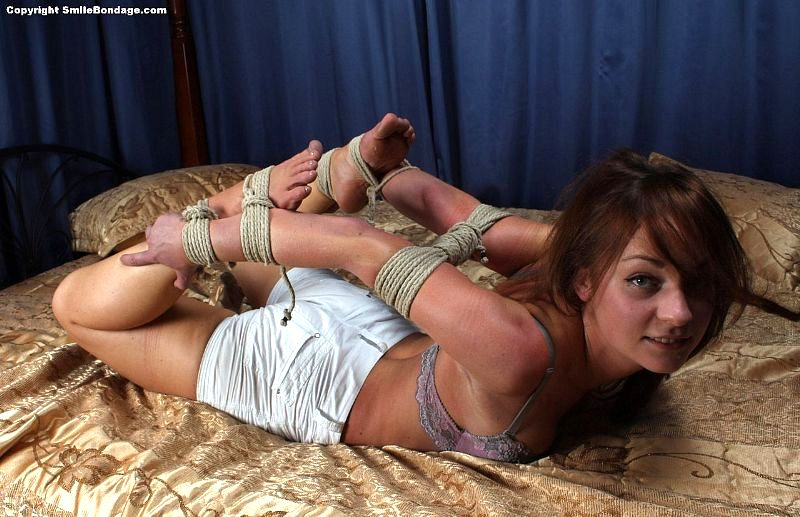 Hog tied and fucked