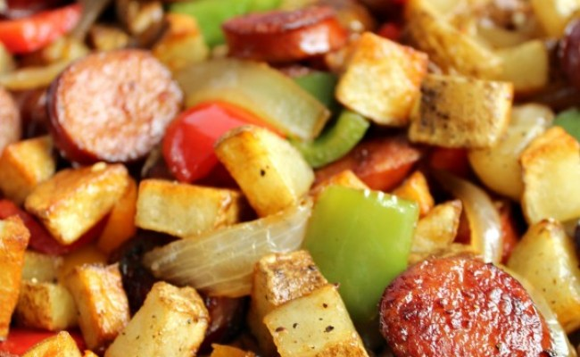 Smoked Sausage Hash Love To Be In The Kitchen