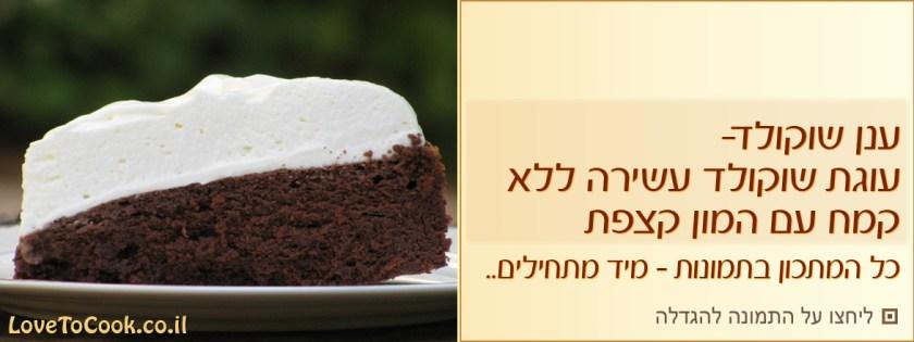 עוגת שוקולד ללא קמח