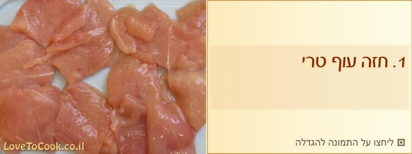 חזה עוף ברוטב תפוזים