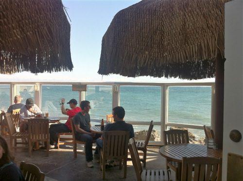 Duke's Malibu oceanfront restaurant - Outdoor Deck overlooking Pacific Ocean