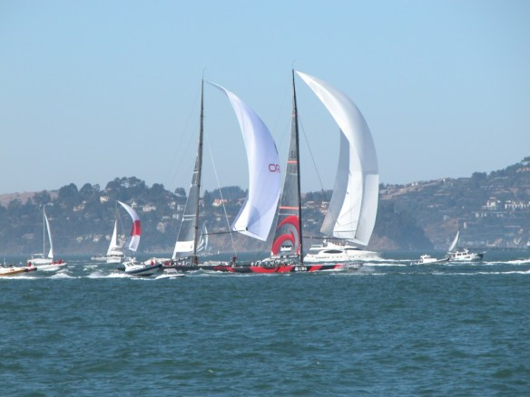 Sailing in San Francisco Bay - Sailboats - All Rights Reserved Love to Eat and Travel