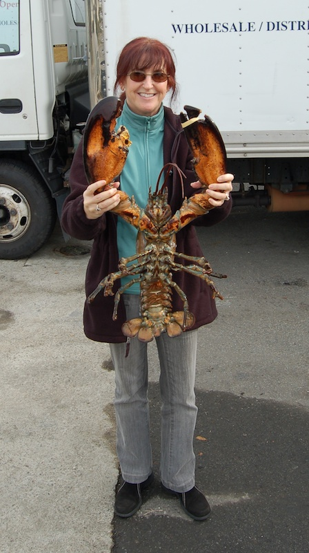 Lobster held by Alana