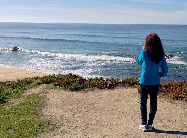 Reflecting on life overlooking a beach in Half Moon Bay, CA - © LoveToEatAndTravel.com