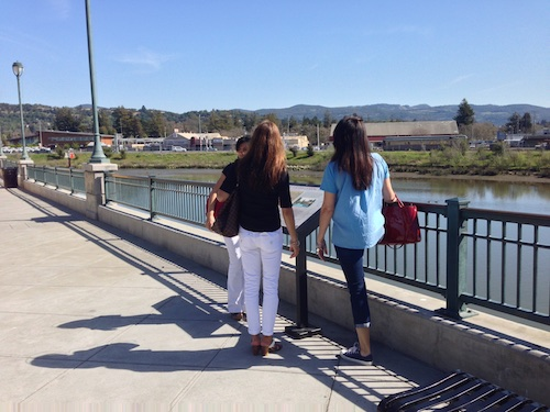 Walk along the Napa Riverfront promenade © LoveToEatAndTravel.com