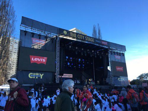 The City Stage at Super Bowl City, San Francisco - © LoveToEatAndTravel.com