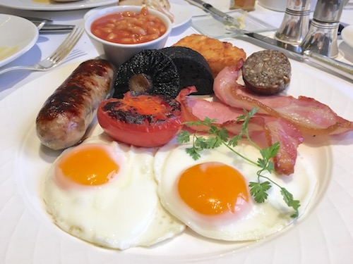 British fry-up breakfast at The Dower Restaurant at The Royal Crescent Hotel & Spa in Bath, UK - photo © Love to Eat and Travel