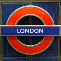London Underground Sign, London, UK