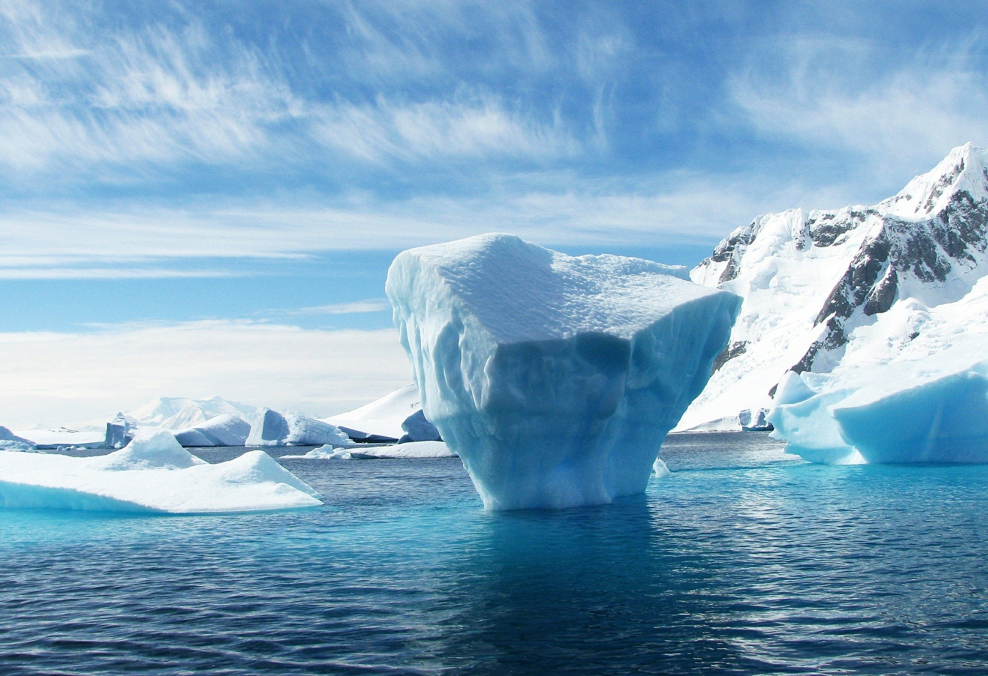 Glaciers and Icebergs in Antarctica