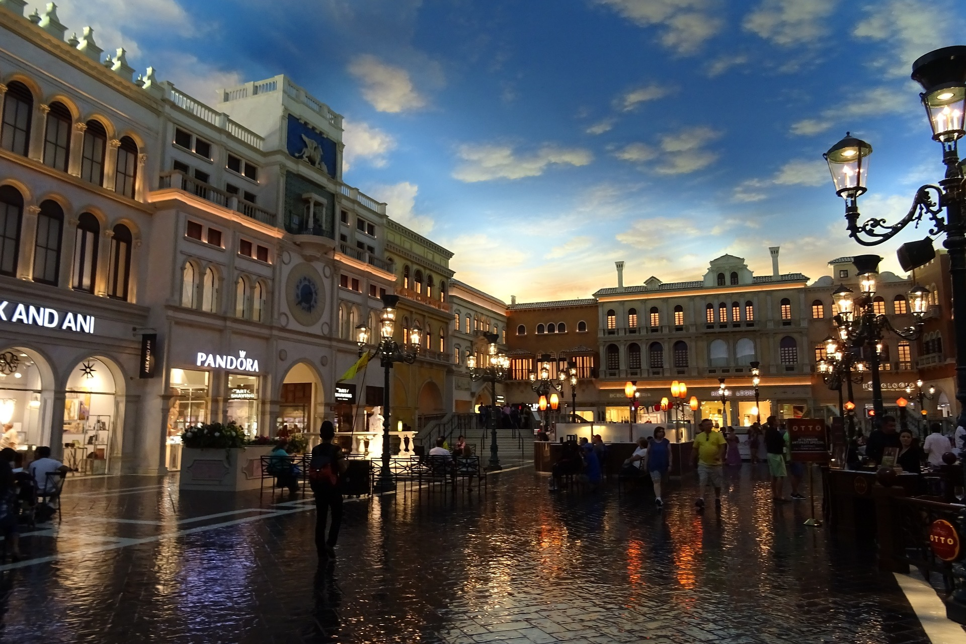 Grand Canal Shoppes and St. Mark's Square at The Venetian, Las Vegas
