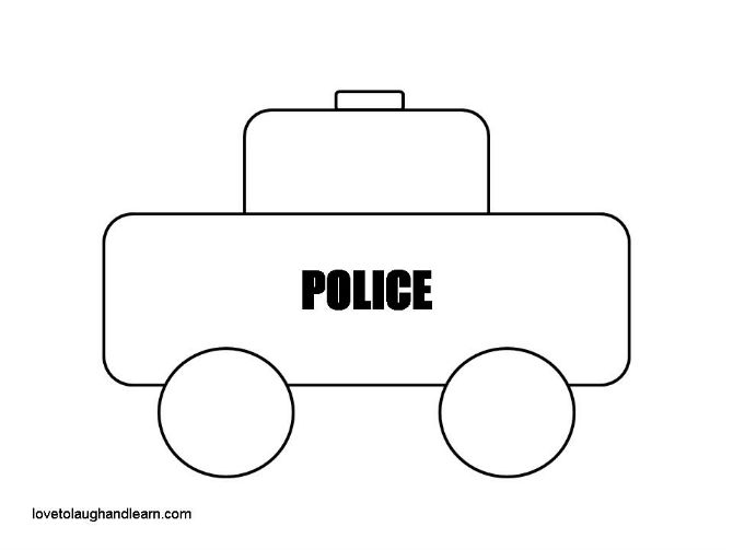 Pin Printable-police-car-pattern on Pinterest