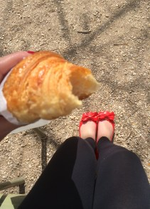 One of many croissants in Paris