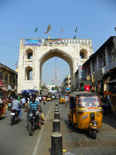Улица Хайдарабада - найди тротуар