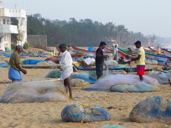 Рыбаки в Махабалипураме