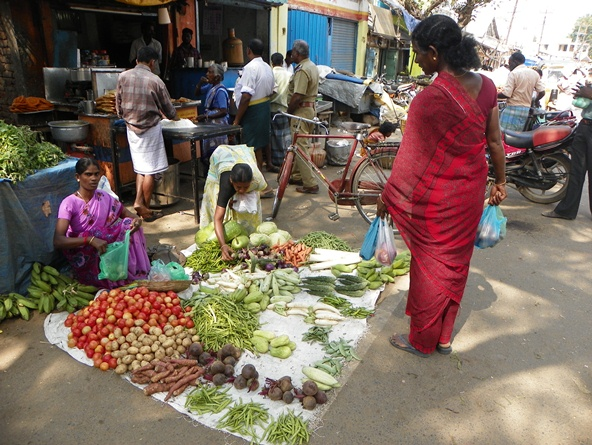 Рынок в Таджоре