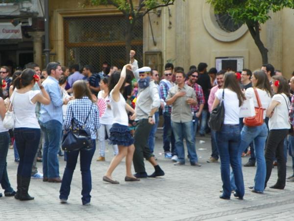Фламенко на улицах Севильи
