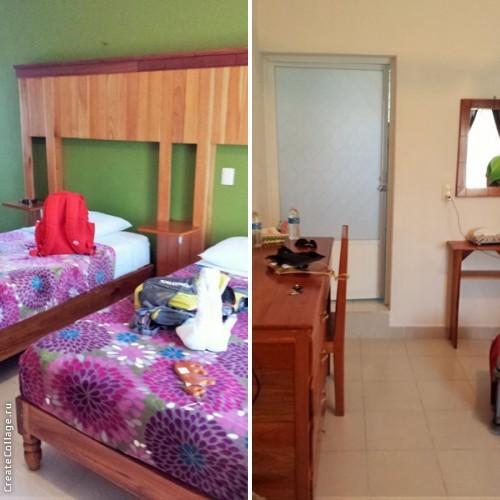 Our room in Hotel Maya Balam. Xpujil