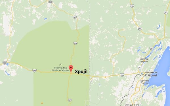 Xpujil. Map