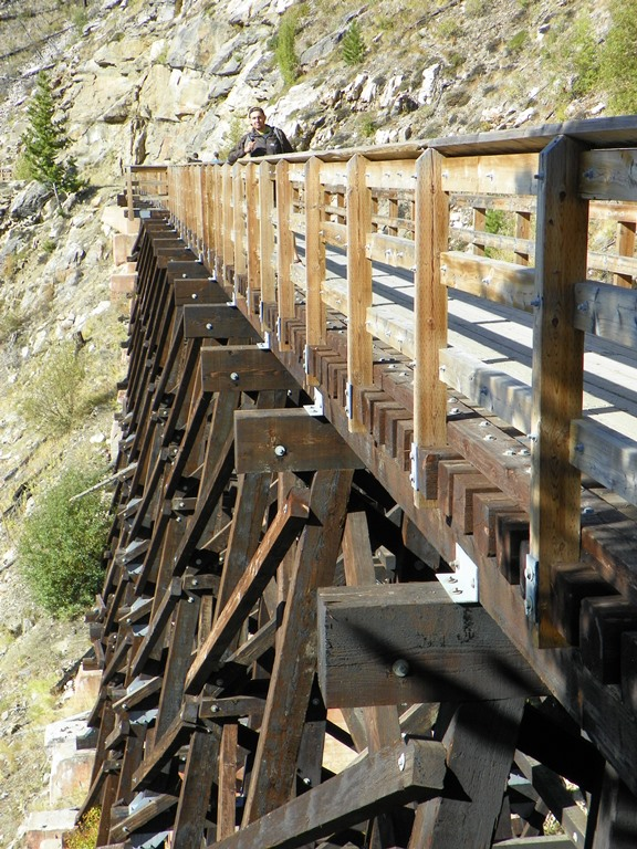Myra Canyon. Trestles
