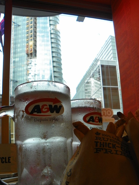 A&W. Vancouver Downtown