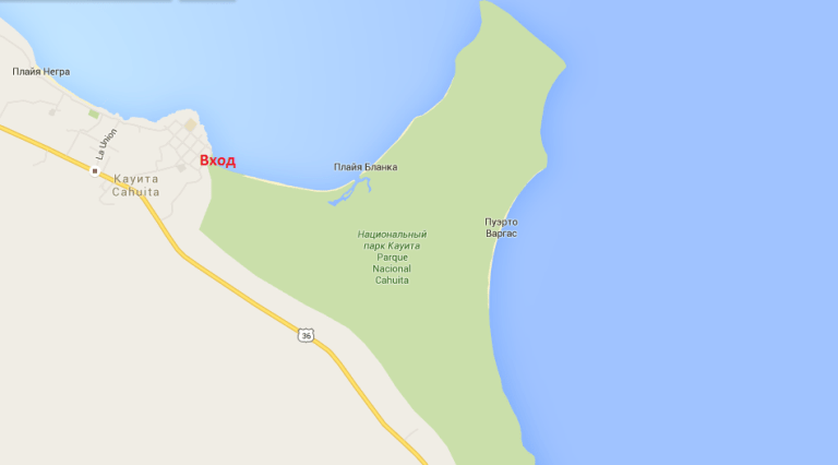 Cahuita NP map