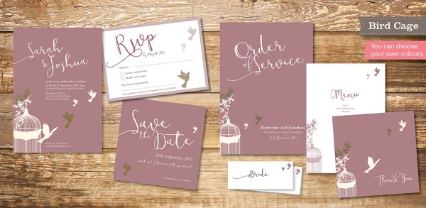 bird cage-wedding-invitation-set