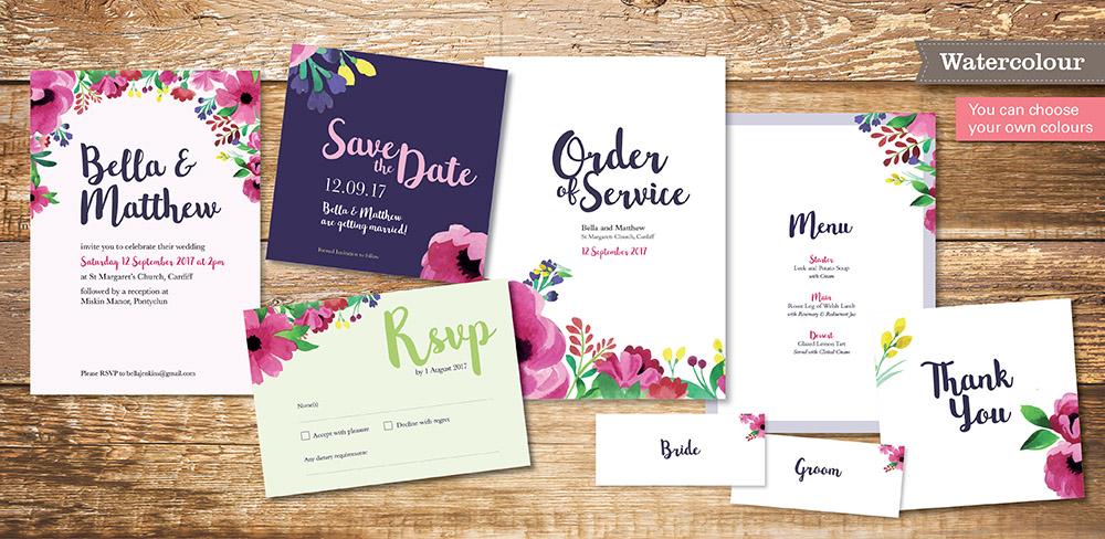Watercolour Save the Date - Beautiful Wedding Stationery UK | Save ...