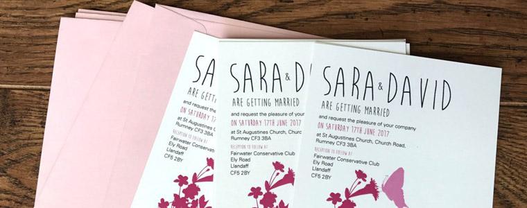 blossom wedding invitation