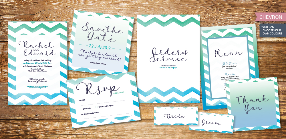 chevron-wedding-invitation-set