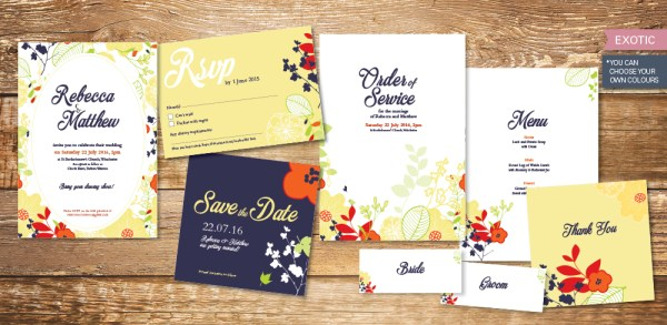 exotic-wedding-invitation-set