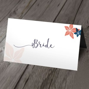 whimsical wedding place card