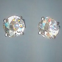 Stunning Rose-Cut Diamond Stud Earrings [SH10243] - 4,750 ...