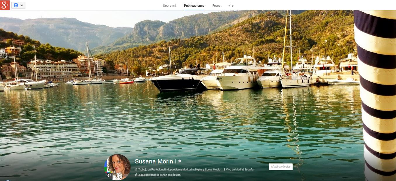 Portada Google Plus Susana Morin