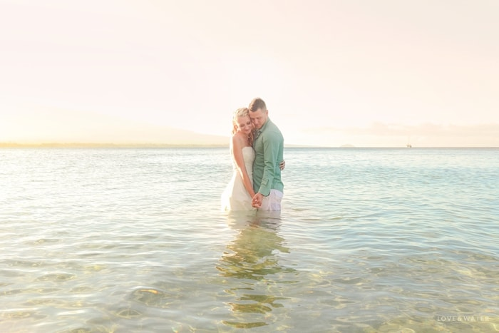 Water trash the dress session
