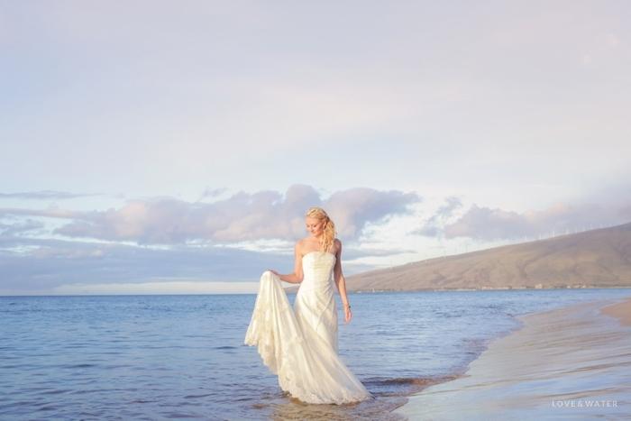 Trash the dress at the beach Maui