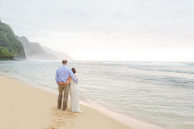 BHLDN Bride water portrait at Kauai Elopement www.lovewaterphoto.com #Bridalportrait #Kauai #BHLDNBride #Ocean #Kauaiphotographers