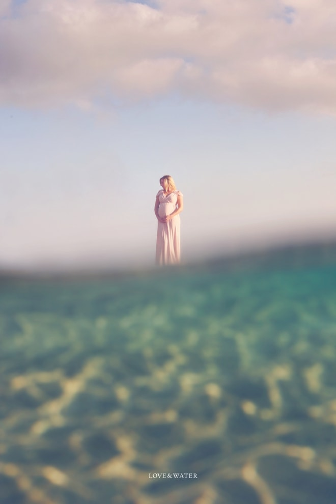 A unique perspective from a winter maternity session on Maui.