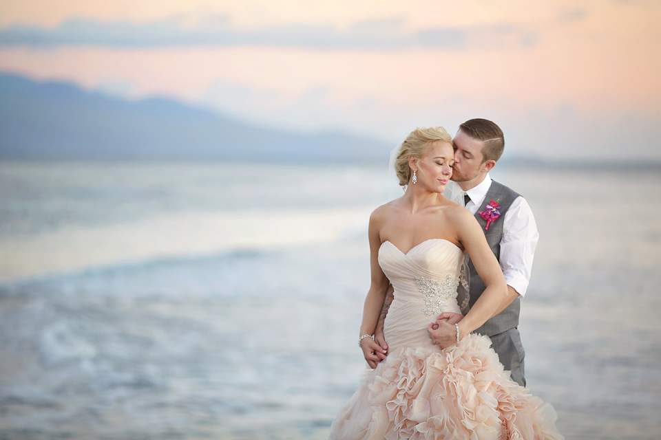 Emily's awesome pink wedding dress was featured in Huffington Post!