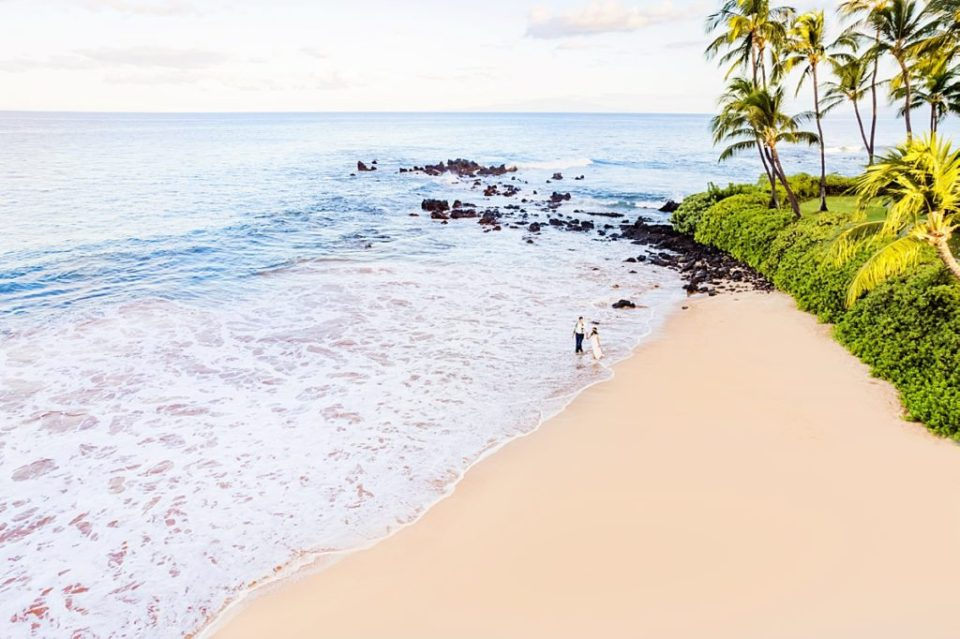 Maui drone photography for couples by Love + Water on Maui
