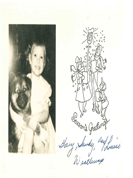 Laurie & Dog Xmas Card