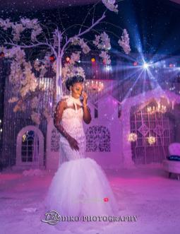 Nigerian Bride Reception Dress Toyosi Ilupeju and Wole Makinwa WED Dream Wedding Details Diko Photography LoveWeddingsNG
